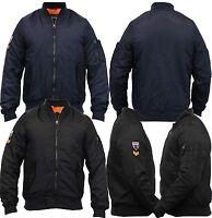 Boys School MA1 Jacket Brave Soul Harrington Coat Padded Army Badge Winter 7-13