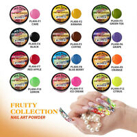 12pcs Mia Secret Fruity Nail Art Powder Professional Acrylic 12 Colors USA Made