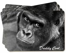 Gorilla 'Daddy Cool' Fathers Day Dad Gift Picture Placemats in Gift Box, AM-13P