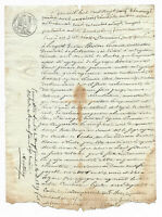1829 Notary manuscript document DAMAGED