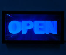 Led Open Sign Animated Neon Light Tunnel Lamp Infinity Light Mirror Light Frame