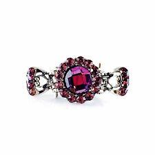 Metal Hair Claw Clip Hairpin Rhinestone Crystal Vintage Elegant Small Purple 005