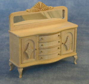 1 /12 scale Dolls House Furniture  Plain Wood Buffet Side Table  BEF172