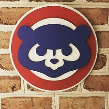 Limited Man Cave Chicago Cubs Handmade Sign One Of A Kind Art Game Used Office