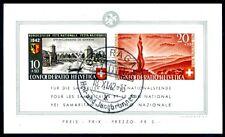 SCHWEIZ 1942 BLOCK7 gestempelt+ ABART IV 600€(Z2737