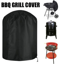 More details for round bbq garden barbecue grill cover outdoor waterproof smoker kettle protector