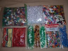 Darice Craft Designer Beads BIG Lot 3.4 Ibs Assorted Tri beads raspberry L@@K