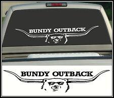 Bundy Bear, Bundy Outback Longhorn, Sticker Decal, 750 x 160mm