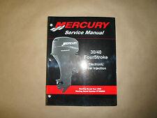 2004 Mercury 30/40 Fourstroke EFI Service Manual 90-883064R01 OEM Boat 04 NEW