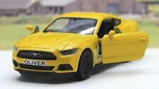 PERSONALISED PLATE Gift Yellow Ford Mustang Boys Toy Dad Car Birthday Present