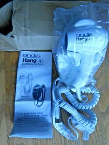 Andis 30970 Hangup Ionic 1600W Hair Dryer with Cord Hanger, White HD-5