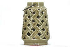 Hugo Lantern Grey 21x23.5 Fawn Candle Holder Ceramic Antique Style Vintage Style