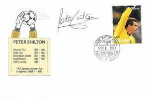 1991 Peter Shilton Goalkeeper Signed Bhutan Stamp First Day Cover