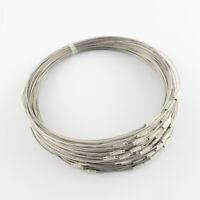 LOT de 8 TOURS de COU ARGENTE gris fermoir à vis 45cm perles création bijoux