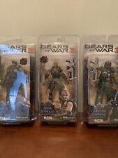 NECA Gears of War 3 LOT Of 3 Figures: Marcus Fenix Anya Stroud Clayton Carmine