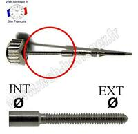 Rallonge pour tige de remontoir non Suisse - Extension for winding stem watches