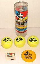 Prince MICKEY MOUSE BIG SHOT TENNIS BALLS can of 3 USTA 1970s Walt Disney