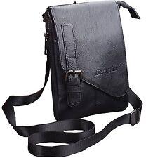 Men Genuine Leather Small Messenger Shoulder Satchel Waist Bag Pack Pouch Pocket
