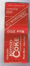 Koppers Chicago Coke J.H. Patterson Lumber Rockford, Il Front Striker Matchbook