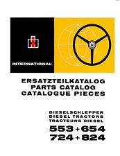Ersatzteilkatalog Ersatzteilliste für IHC Schlepper 553 + 654 + 724 + 824