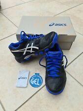 New listing Asics Junior GEL-Blackheath 4 GS Hockey Shoes Pitch Field Black Blue size 1