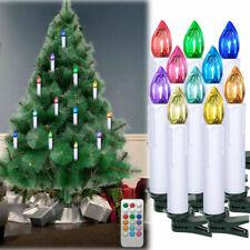 10 Stücke LED Weihnachtsbaumkerzen Lichterkette Baumkerzen RGB Kabellose Kerzen