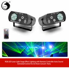 2stk RGB LED Laserlicht Bühneneffektbeleuchtung Remote DJ Show Concert Party KTV