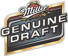 "Miller Genuine Draft Beer Alcohol Bumper sticker, wall decor, vinyl decal, 5""x4"""