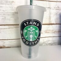 Starbucks Cold Cup Tumbler Venti BLM Black Lives Matter Stand Together Awareness