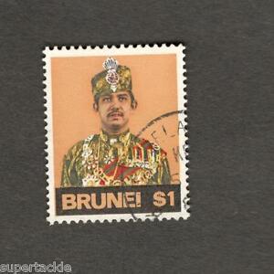 "Brunei #206  Sultan Hassanal Bolkiah ""1974 Printing"" $1 Θ used stamp"