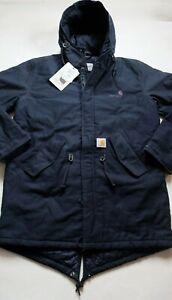 Man Jacket Carhartt Dalsh Parka (Navy) Size M