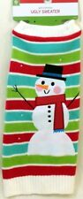 NEW Target UGLY SWEATER Dog Costume S - Snowman & Stripes - Small