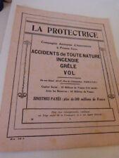 11 feuilles assurance la protectrice buvard , publicité (vp01)