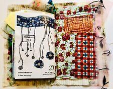 Handmade Mixed Media Fabric Scrapbook SOULCRAFT No.3 2009 Journal DIY Kit Book