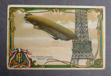 1940's Mrs. Smith's Bread Airship card The French Airship Patrie