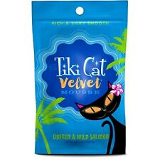 Tiki Cat Velvet Mousse Chicken And Wild Salmon Cat Food Pouch 2.8 Oz 12 Count
