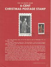 #1363 6c Christmas Madonna Stamp Poster- Unofficial Souvenir Page FD MC