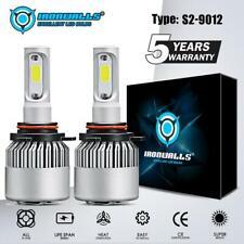 IRONWALLS 9012 2000W 300000LM LED Headlight Bulb Hi/Low Beam Fog Light 6000K