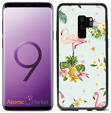 Pink Flamingos and Tropical Flowers Retro For Samsung Galaxy S9 Plus + 2018 Case
