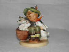 "M.I. Hummel ""PLAYMATES"" Boy with Rabbits Mold # 58/0 TMK2 - FULL BEE! Beautiful"
