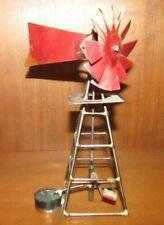 Decorative Garden Brazed Wired Windmill decor With Water bucket