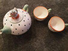Krinkles Tee Kanne  Huhn mit 2 Tassen Neu