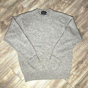 Pendleton Mens Light Gray Shetland Washable Wool Sweater Size Large
