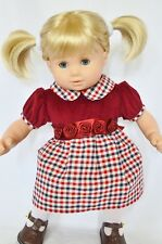 "15"" Doll Clothes Cranberry Dress fits 15"" Baby Doll Dress"