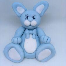 Edible Blue Boy Rabbit, Birthday, Christening, Baby Shower Cake Topper