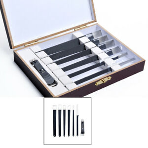 7 Piece Manicure Pedicure Nail Care Set Cuticle Clippers Kit+Wooden Gift Case