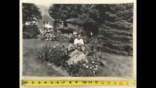 Lot Of 5 Large Vintage African American Photos Woman Dog Garden House Yard