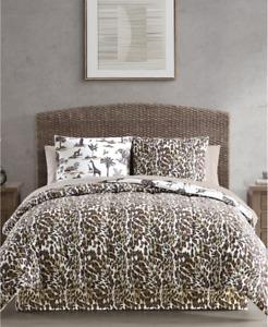 Brown Cheetah Leopard Serengeti Safari Animal Prints King Comforter Set 8pc