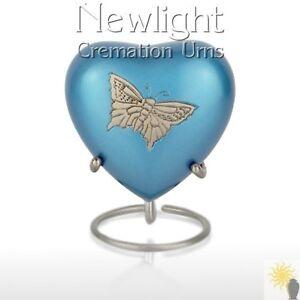 Pewter Butterfly (3inch Heart), Keepsake Urns, Heart Keepsakes, Mini Urns