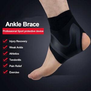 US Elastic Adjustable Ankle Brace Support Sport Basketball Protector Foot Wrap